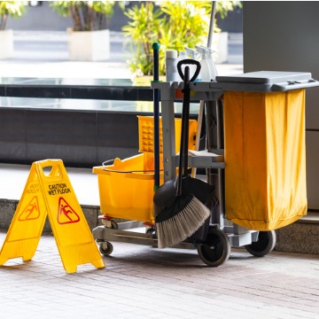 A custodial cart for a Business Cleaning Service in Peoria IL
