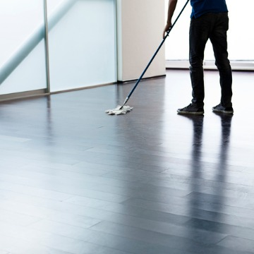 Floor dusting as a part of Professional Cleaning Services in Peoria IL