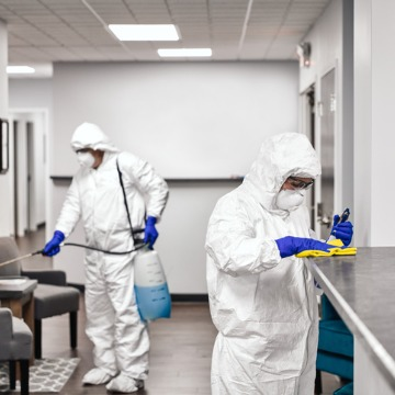 A cleaning team performing Disinfection Services in Peoria IL